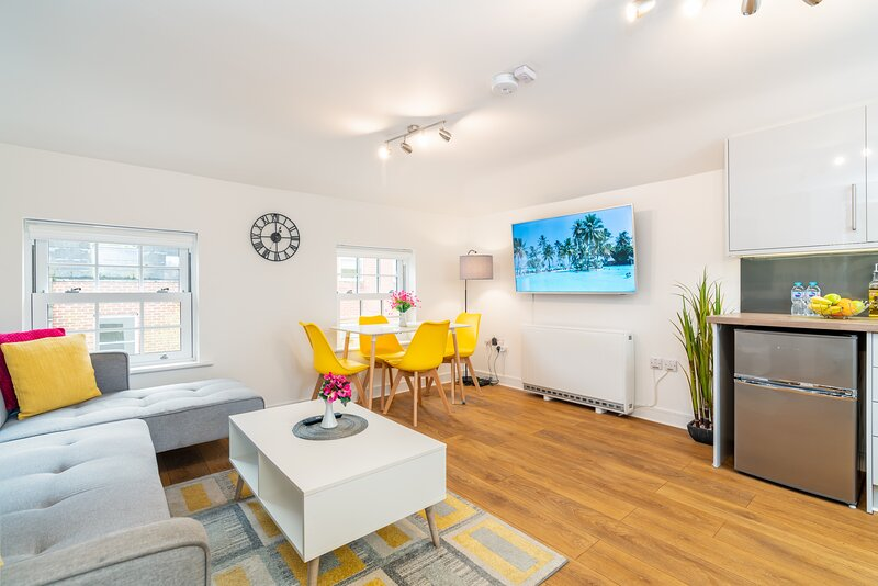 Town Center Apartment, 55'' Smart TV, Netflix, Amazon Prime TV, Super King Bed, holiday rental in Andover