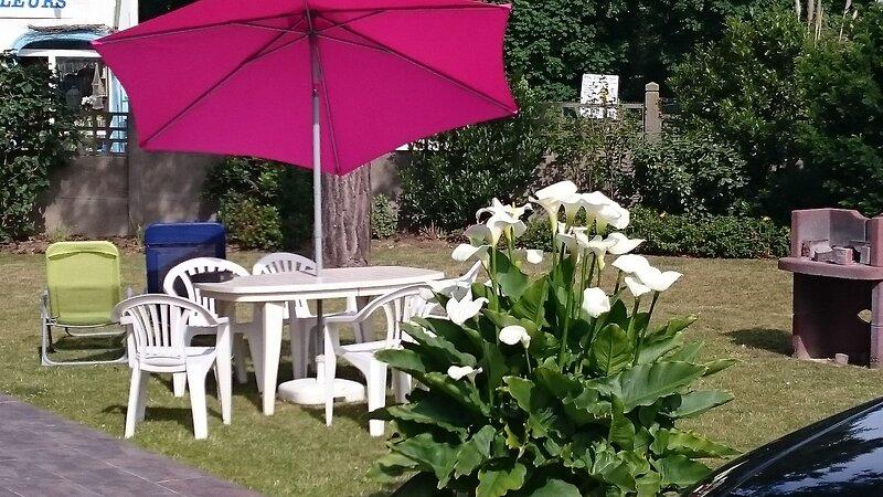 Nice house with garden & terrace, location de vacances à Camiers