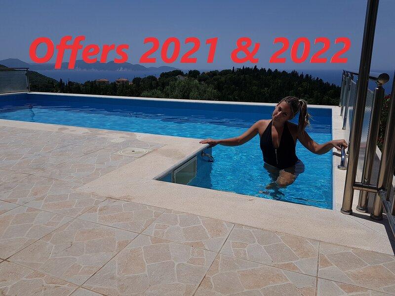 Entheos Prime View Villa, holiday rental in Fiscardo