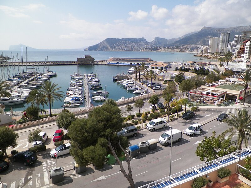 View from the terrace across the bay to Altea and Albir.