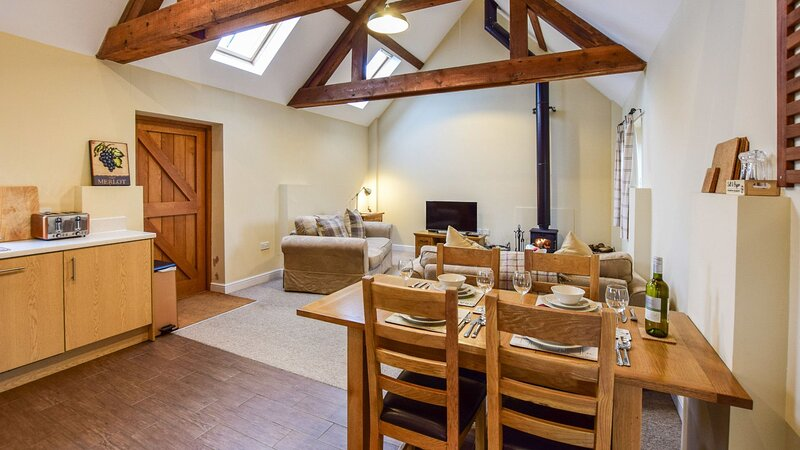 Combine Shed - Open plan living area, wood-burning stove and pet-friendly barn c, vacation rental in Dorsington
