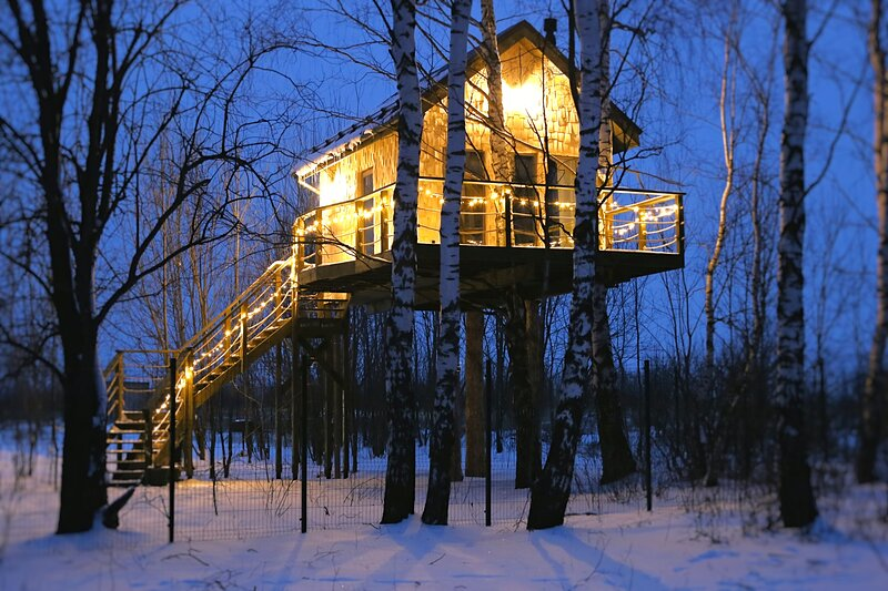 Лапочкино Гнездо-Дом на Дереве, location de vacances à Kashira