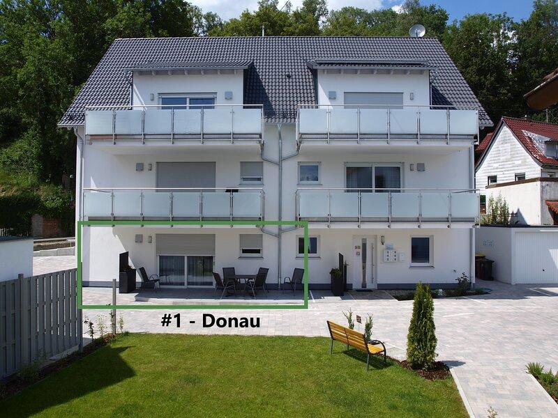 """3-Zimmer Wohnung in Günzburg mit 2 Schlafzimmern #1 """"Donau"""", casa vacanza a Jettingen Scheppach"""