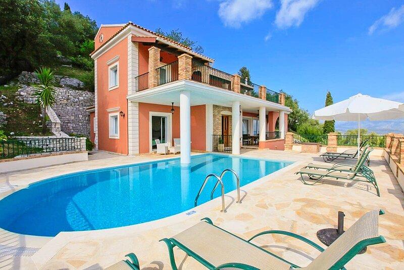 Villa Emilios: Large Private Pool, Sea Views, A/C, WiFi, aluguéis de temporada em Agnitsini