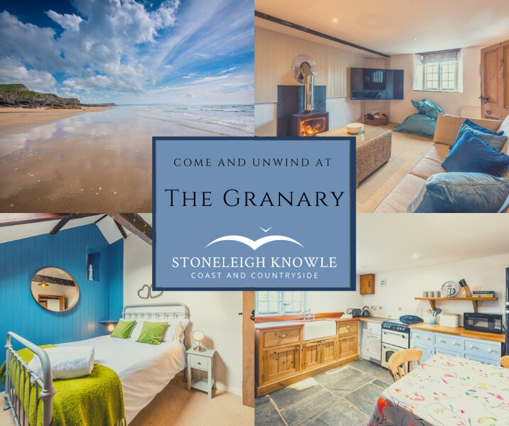 Country Retreat Just Minutes to the Beach- The Granary at Stoneleigh Knowle, vacation rental in Bude