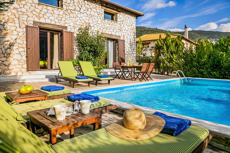 Villa Fuoco, total private, from Lefkas G-Villas complex, holiday rental in Evgiros