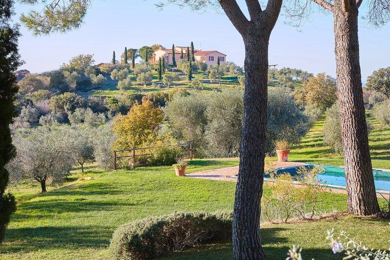 Poggio Tamantino, Villa con Piscina in Maremma, holiday rental in Arcille
