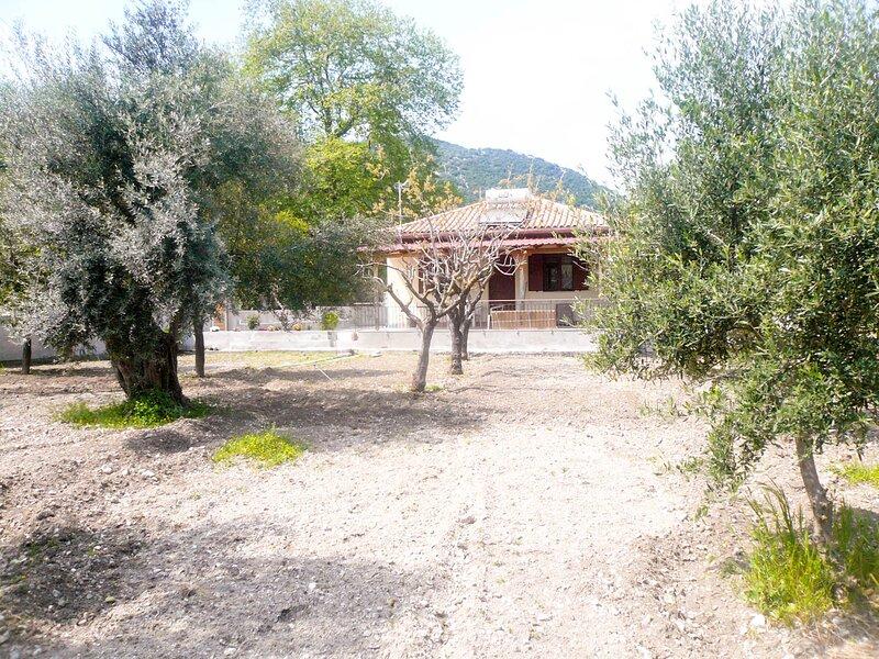 Lefkada Family friendly house with parking , yard, casa vacanza a Vafkeri