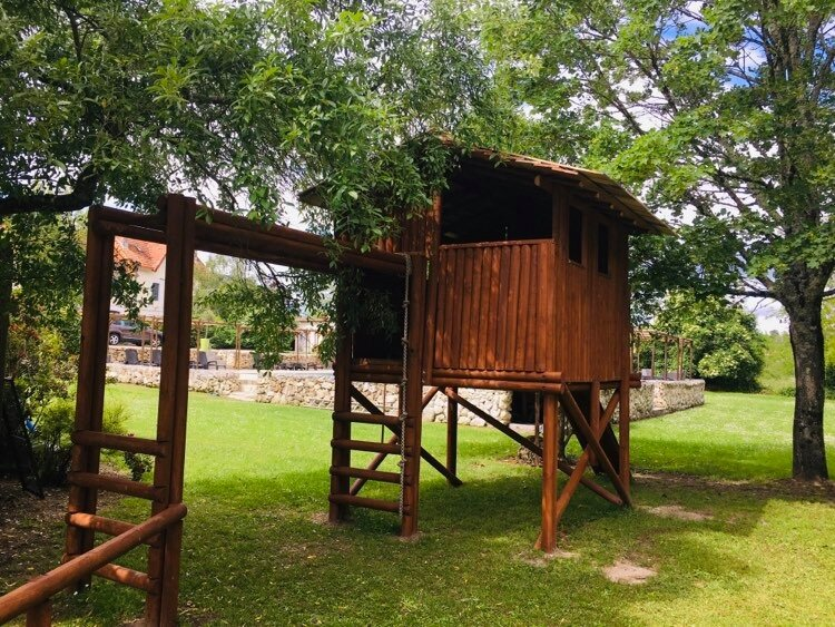 Tree house in adventure play area