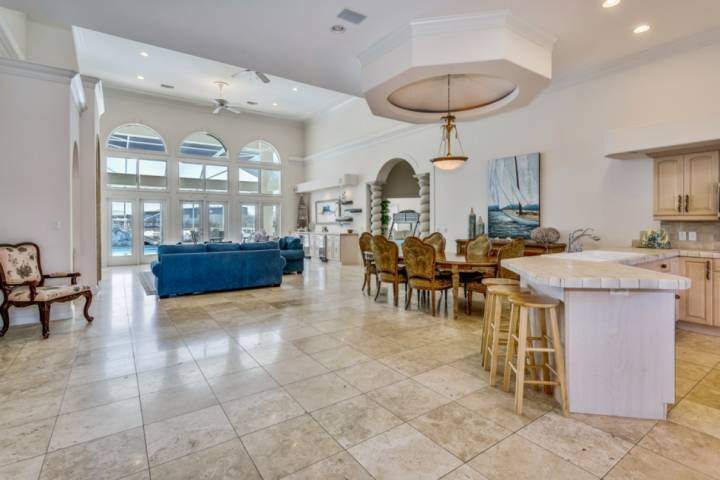 Open living area with direct access to your private pool