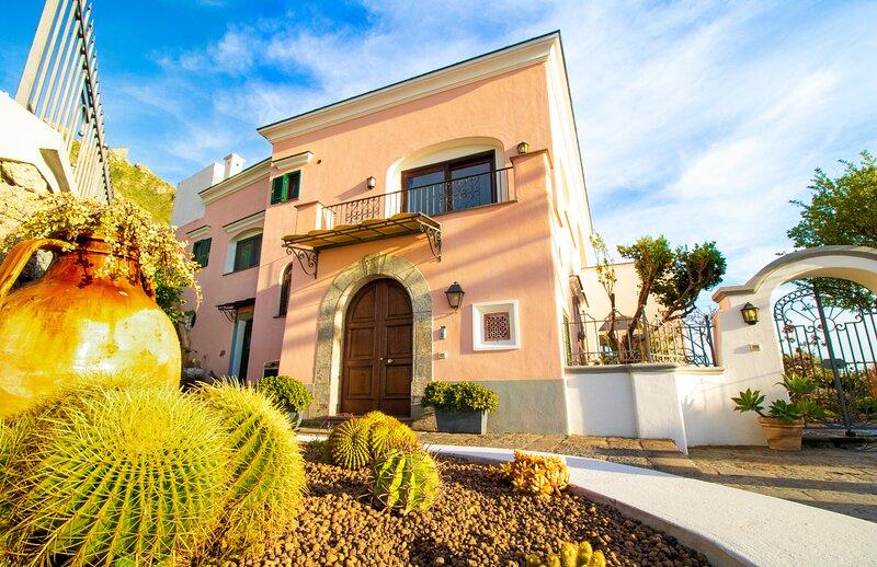 VILLA TITINA: due appartamenti indipendenti in Villa con vista mare e tramonto., vacation rental in Forio
