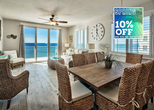 4/10-4/13 OPEN! BEACHFRONT View *Resort, Pool/Hotub, $100LiveWellCredit/PERKS, vacation rental in Miramar Beach