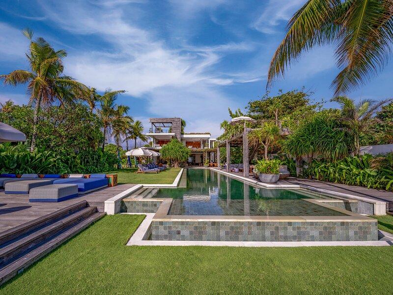 Noku Beach House - View of villa from beachfront