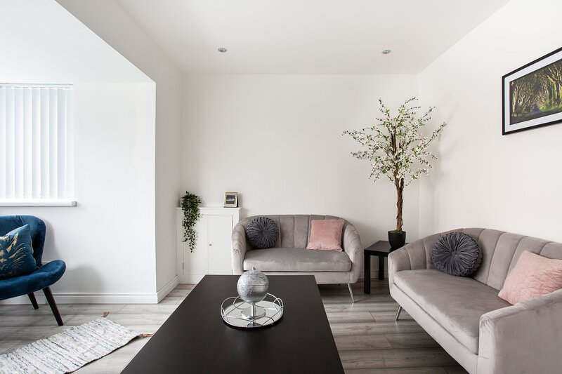 Beautiful Refurbished Belfast Home - 10 mins from centre and free parking!, holiday rental in Aldergrove