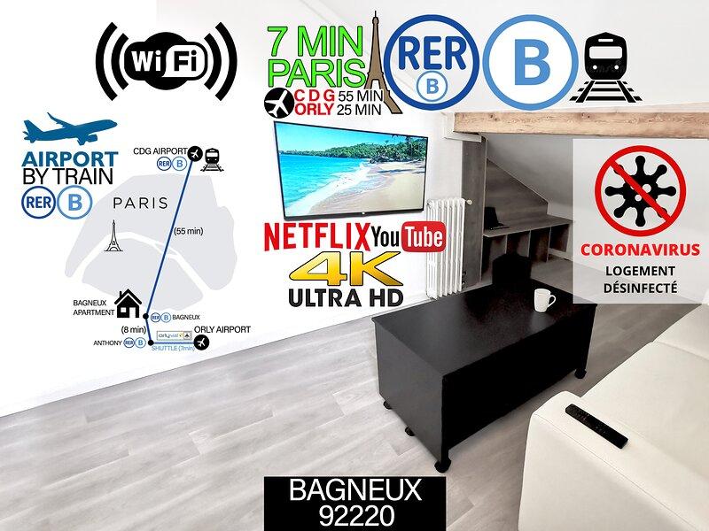 Charmant Appartement Proche Paris, aluguéis de temporada em Bourg-la-Reine