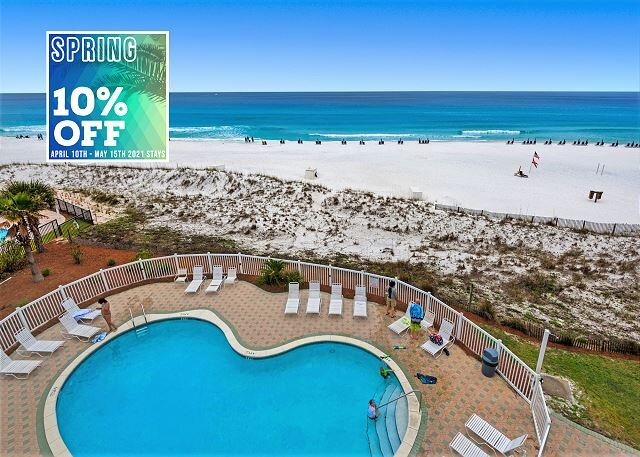 4/10-4/21 OPEN! BEACHFRONT! Pool + FREE Beach Service + $100 LiveWell Credit!, holiday rental in Miramar Beach