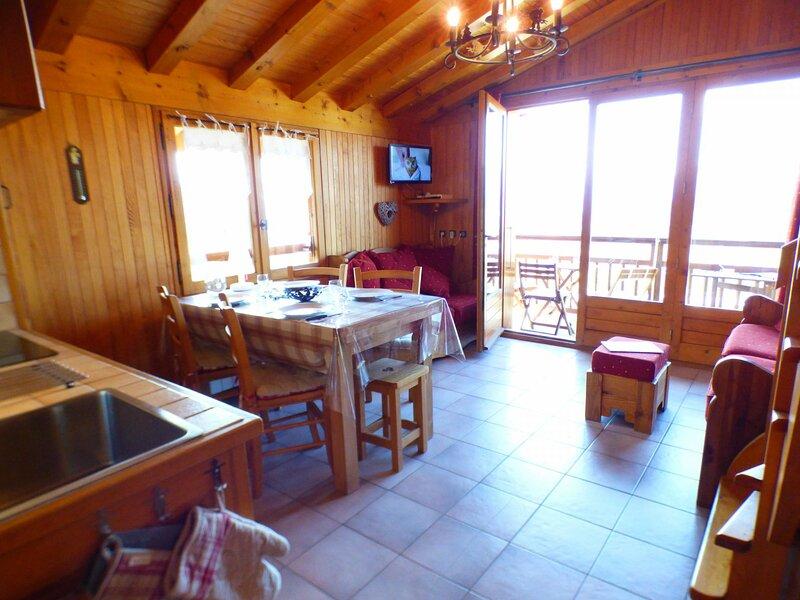 2 pièces avec coin montagne de 37 m² classé 2**, holiday rental in Les Saisies