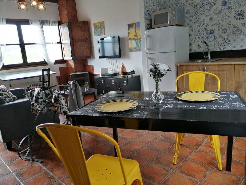 Dúplex para parejas con jardín privado, barbacoa y vistas panorámicas, holiday rental in Corao