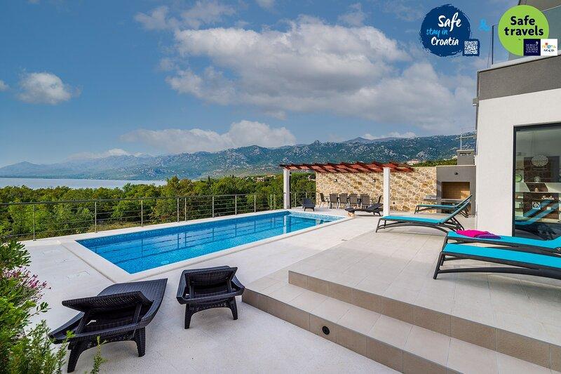 Modern Villa Forte, in Dalmatia, with a Pool, vacation rental in Rovanjska