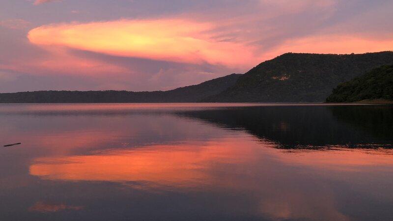 We are right on the shore of the Laguna de Apoyo