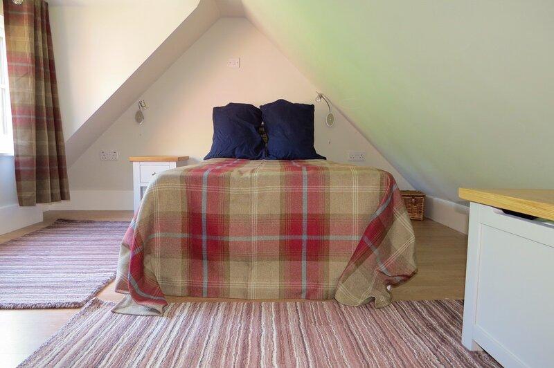 Single bed on mezzanine floor