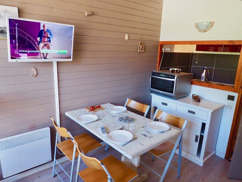 beau studio rénové proche pistes superbe vue, classé 2 **, holiday rental in Valfrejus