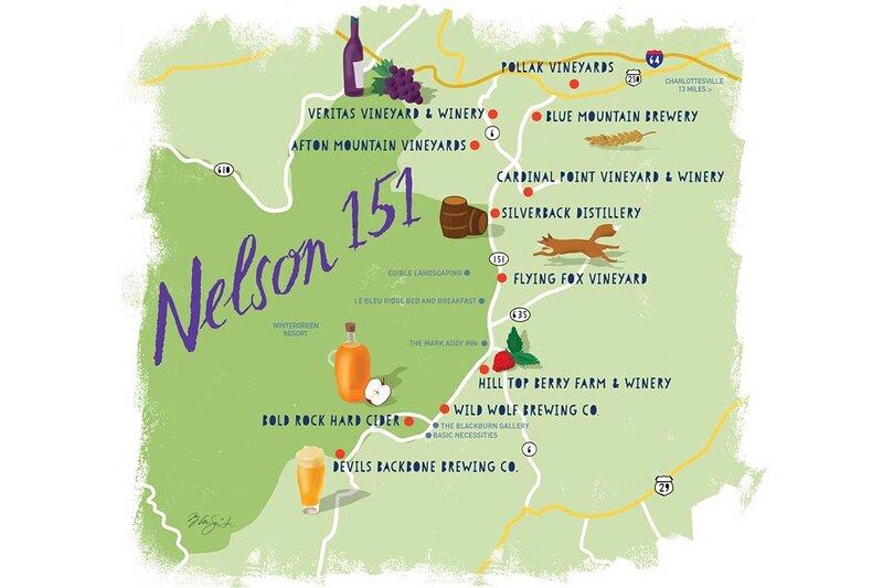 Local Brewery & Vineyard Map