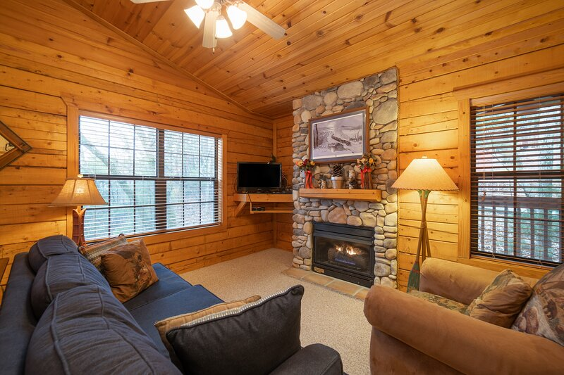 Romantic Walk in Cabin with King Bed, Fireplace & Whirlpool Tub, holiday rental in Branson