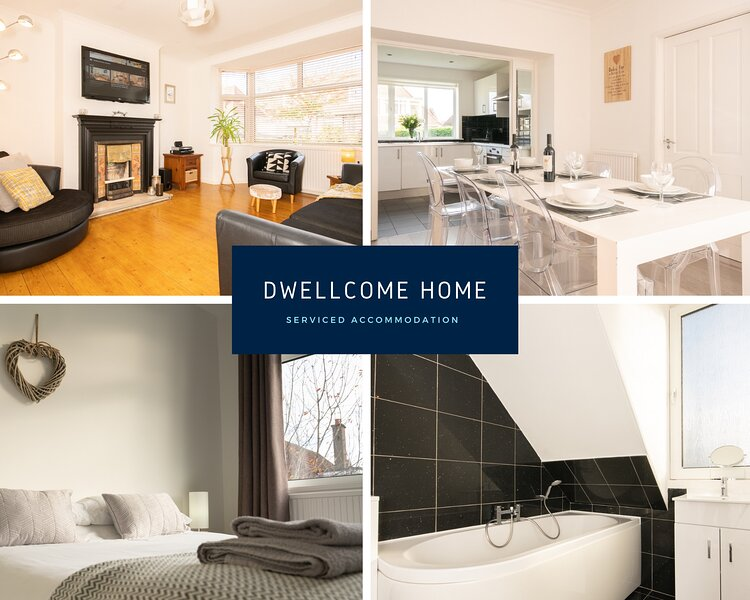 DWELLCOME HOME Airyhall House 5/6 beds FREE PARKING 100Mbps Broadband, Ferienwohnung in Aberdeen