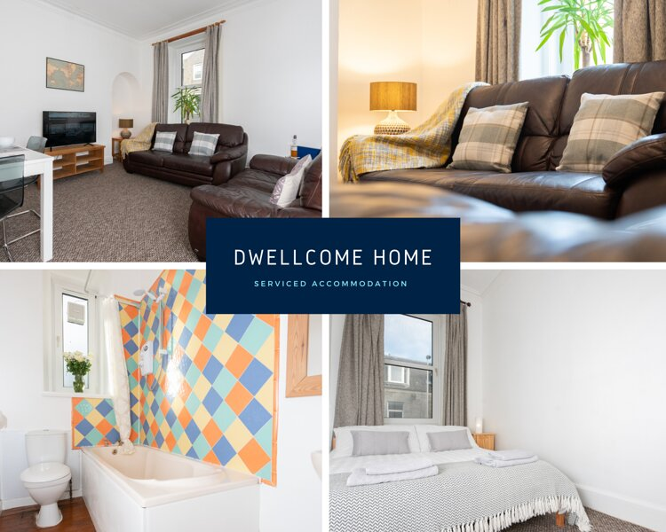 DWELLCOME HOME CONTRACTORS 3 Bedroom 5 beds - South Mount Street FAST BROADBAND, Ferienwohnung in Aberdeen