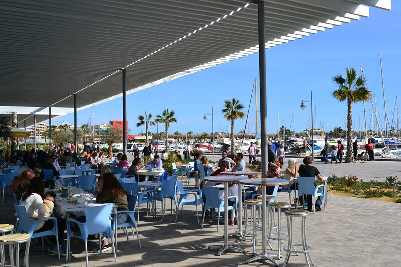 Stunning marina with a great variety of great value restaurants.