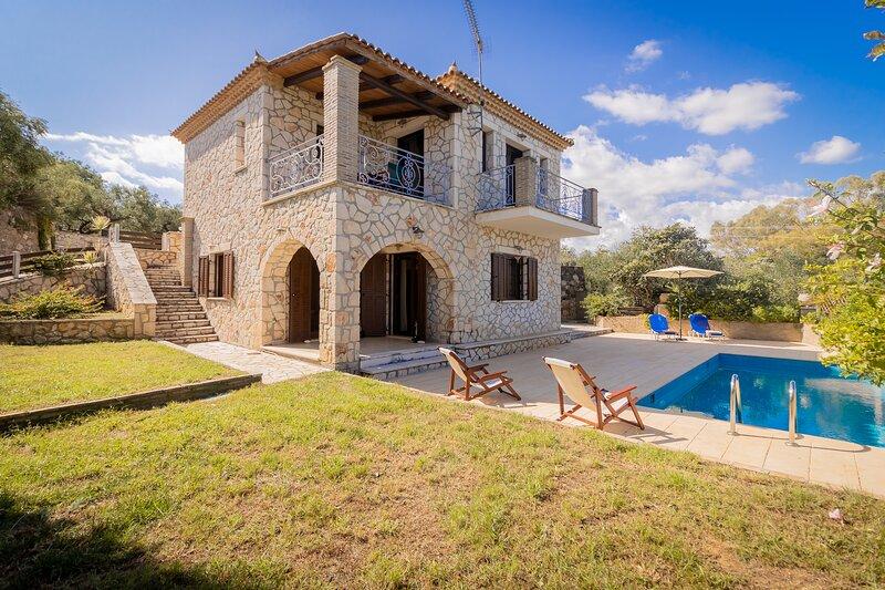 Afrati villa, location de vacances à Kyllini
