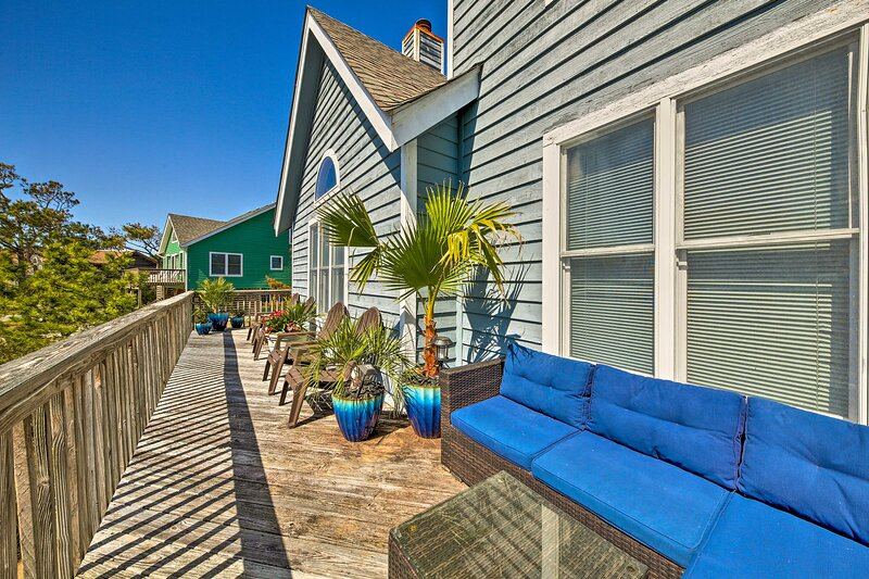 Take in the views from the large deck at this Nags Head vacation rental!