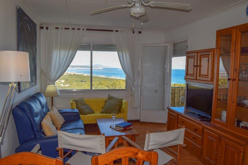 Apartamento vistas a mar a 1.5 km de la playa. Capacidad 4 personas. Wifi., alquiler vacacional en Playa de Pals