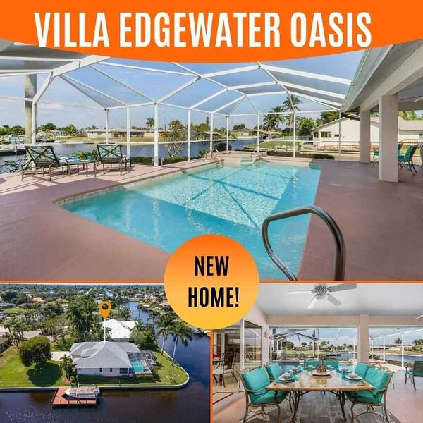 27% OFF SWFL Rentals - Villa Edgewater Oasis - Wide Intersecting Canal Pool Home, Ferienwohnung in Cape Coral