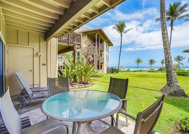 Kaha Lani Resort #114, Ocean View, Steps to Beach, Beautiful Sunrises, Wifi, alquiler vacacional en Lihue