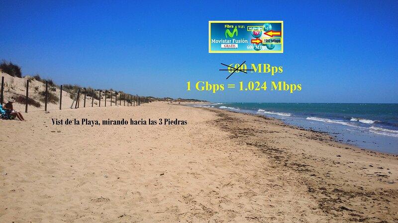 Chalet pareado 'La Pavona' en primera linea de playa en Chipiona, alquiler de vacaciones en Chipiona