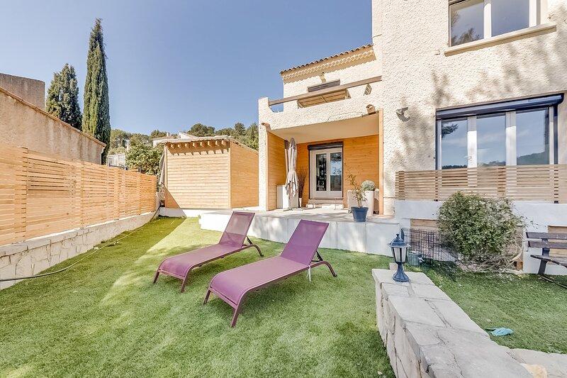 Ô Soleil - appartement ensoleillé avec jardin proche Cassis, alquiler vacacional en Roquefort-la-Bedoule