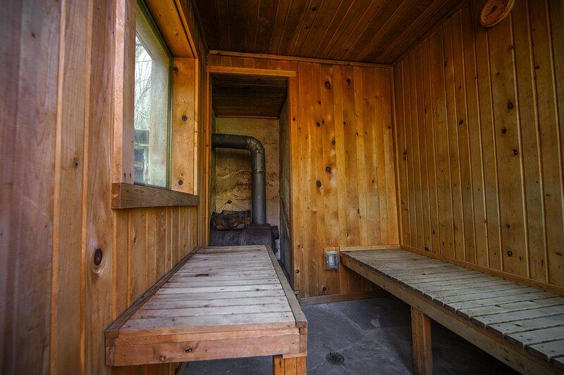 Wood heated sauna