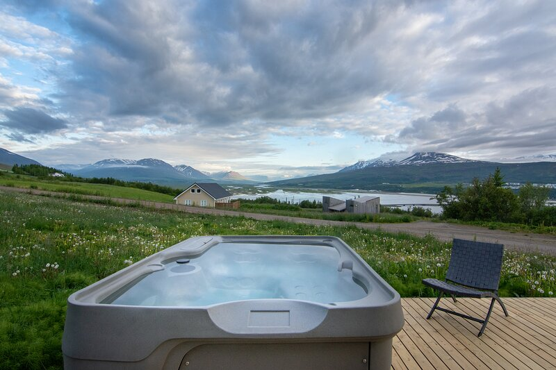 Hot tub and the view from the porch