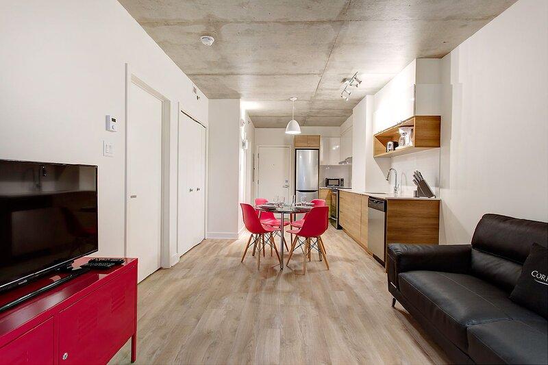 Corporate Stays | Hexagone | Modern 1 BR, aluguéis de temporada em Brossard