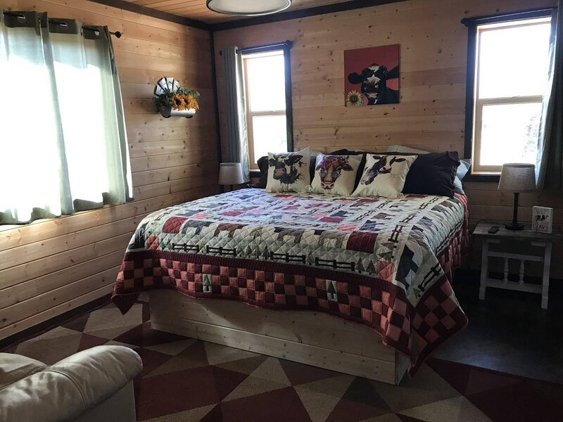 Farm House Cabin, Stunning!  Patio,  TV Room, Games, BBQ, Campfire Bowl, holiday rental in Monticello