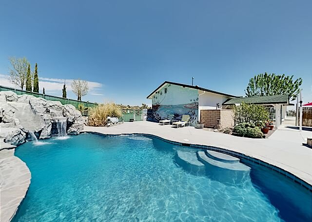 Dream Oasis | Private Heated Pool, Outdoor Kitchen | Home Theater, EV Charger, holiday rental in Yucca Valley