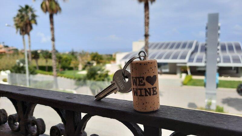 Portachiavi a forma di tappo I ❤ wine