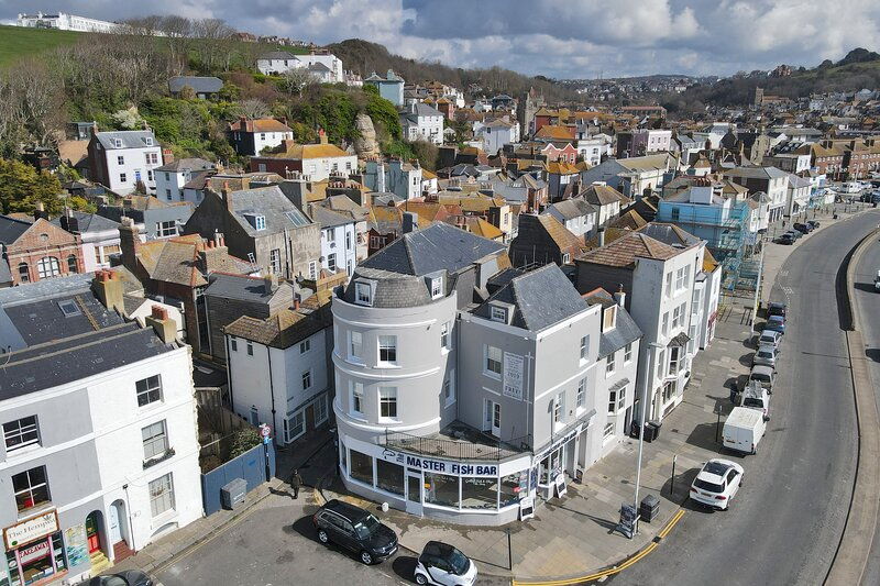 Sea view flat  in old town Hastings, casa vacanza a Hastings
