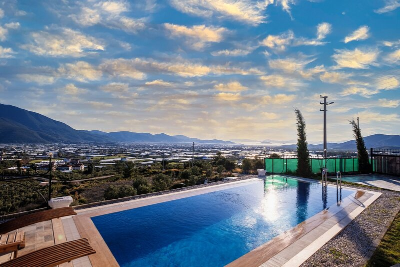 2 Bedroom Luxury Sea View Villa with Private Pool, holiday rental in Mugla