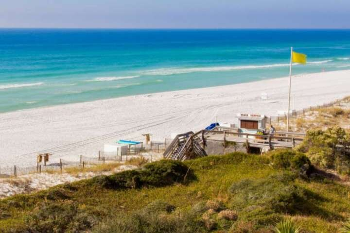 Tranquility from the patio ~ Count the layers of the Emerald Coast while becoming memorized with the soothing waves.