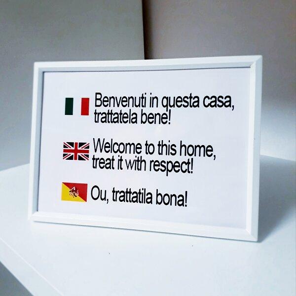 Dettaglio di benvenuto