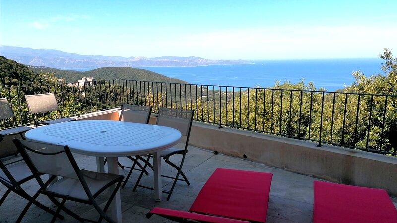 villa proche saint florent vue mer imprenable, holiday rental in Farinole