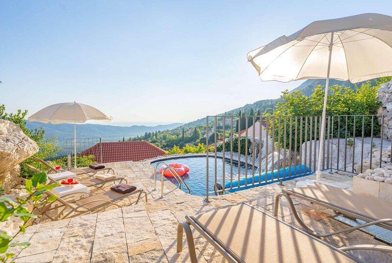 19th C. villa w/pvt pool, 15mins to Montenegro, holiday rental in Zastolje